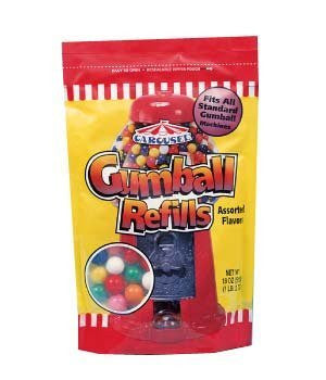 GUMBALL RESEALABLE 18oz BG 12ct CAROUSEL/FORD - Package