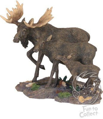 Moose Family Figurine