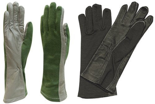 Rothco Flame/Heat Resistant Flight Gloves - Size 12 (Black)