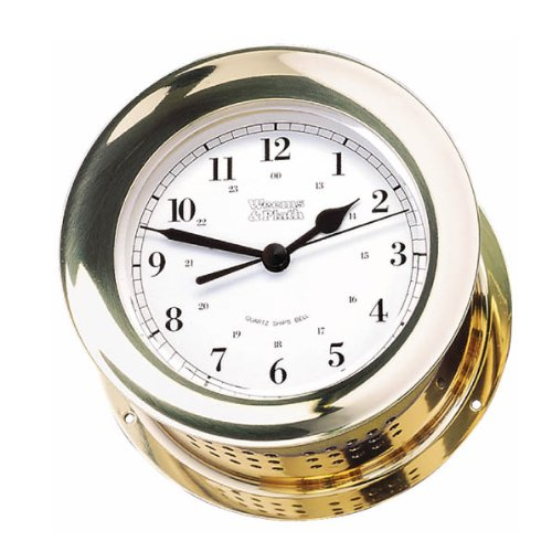 "Atlantis Quartz Ship's Bell Clock, Dial: 4"", Overall Diameter: 5.5"", Depth: 2.875, 1559 g"
