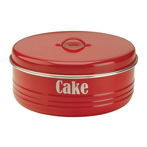 VINTAGE KIT RED CAKE TIN