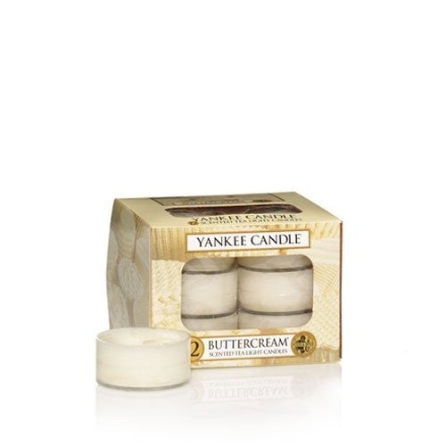 Buttercream - Box of 12 Scented Tea Lights Yankee Candle