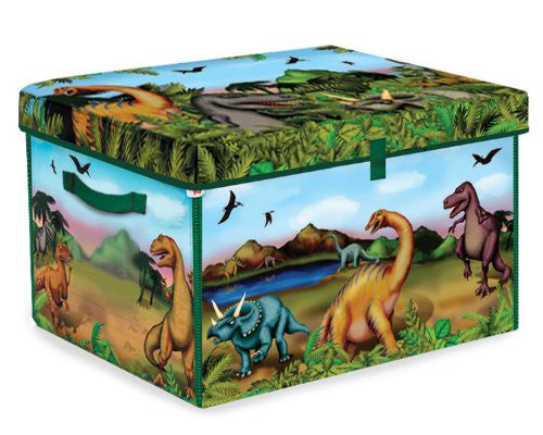 Neat‐Oh!® ZipBin® 160 Dinosaur Collector Toy Box & Playset w/ 2 Dinosaurs