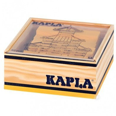Kapla 40 pc Yellow Color Square in Wooden Box