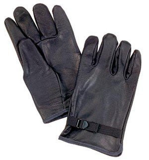 Rothco D-3A Black Leather Gloves - Size 7