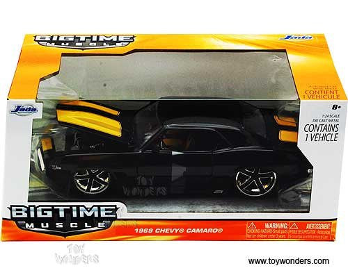 Jada Toys Bigtime Muscle - Chevy Camaro Hard Top (1969, 1/24 scale diecast model car, Asstd.)