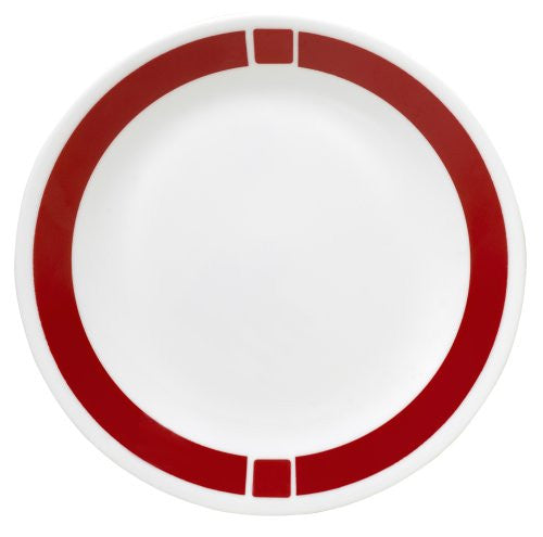 Corelle Livingware 8-1/2-Inch Luncheon Plate, Urban Red