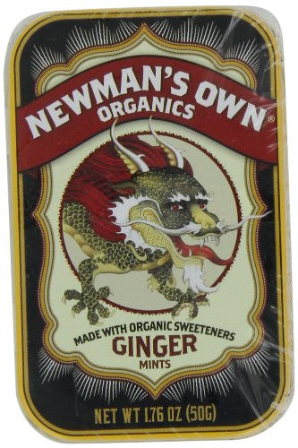 Newman's Own Organics Mints Ginger At least 95% Organic 1.76 oz