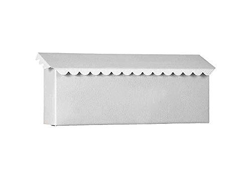 Wall Mounted City Mailbox - White Textured (Horz.) 15W 6-1/4H 3D