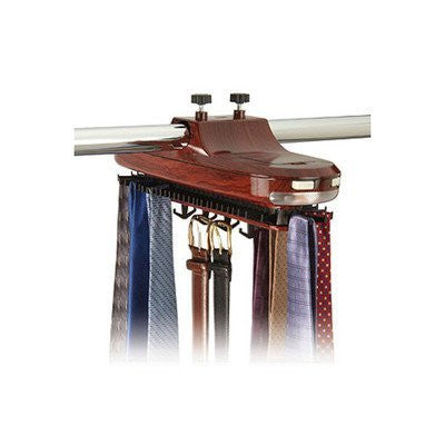 Battery Operated Wood Grain Tie Rack