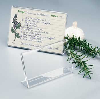 Recipe Card Holder 3x5 - Clear