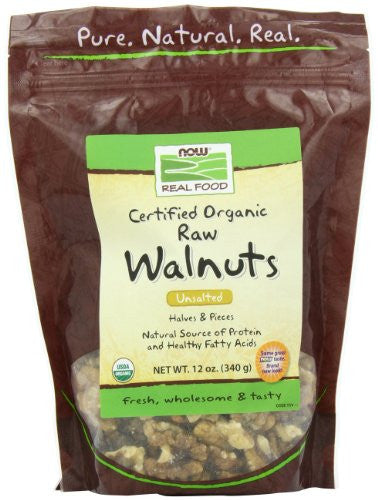 Walnuts, Raw, Halves & Pieces Organic - 12 oz
