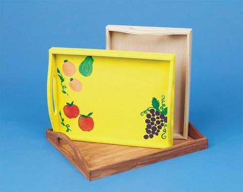 Unfinished Wooden Trays (Set of 3)
