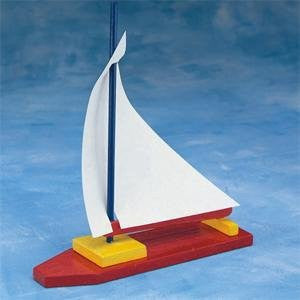 Wooden Sailboat, Unassembled (Pack of 12)