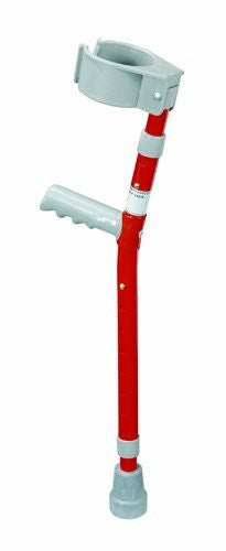 Forearm adjustable aluminum orthopaedic crutch with K‐grip and arm cuff, child, red