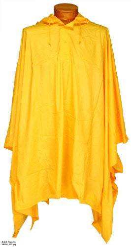 Adult Poncho, Yellow