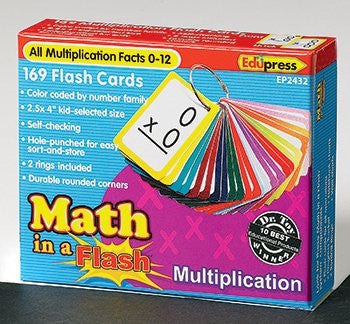 Math in a Color-Coded Flash Cards, Multiplication