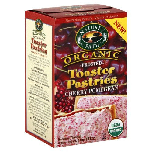 Nature's Path Toaster Pastries Cherry Pomegran, Frosted At least 95% Organic (11 oz)