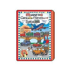 TINS - Full Size - Magnetic Fun Tin: Cars, Planes and Trains