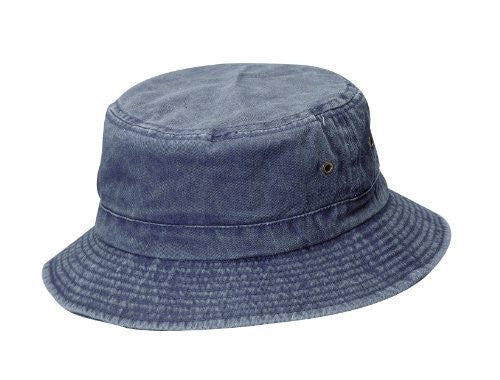 Dorfman Pacific Unisex Cotton Summer Bucket Hat (Navy / Large/X-Large / 22 3/4-23 1/8 Inches)