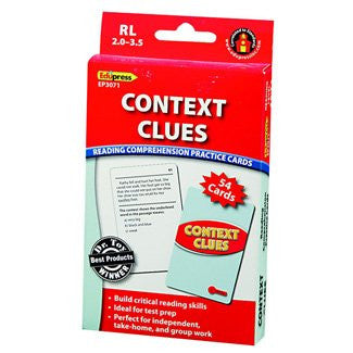 Context Clues Reading Comprehension Practice Cards, Red Level
