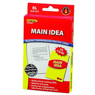 Main Idea Reading Comprehension Practice Cards, Red Level