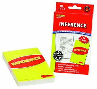 Inference Reading Comprehension Practice Cards, Red Level
