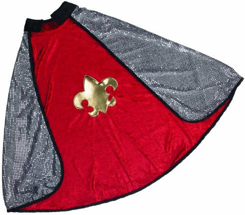 Rev King/Knight Cape, Red/Silver, M