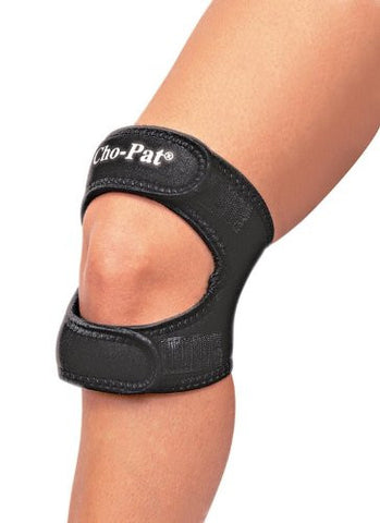 Cho­Pat Dual Action Knee Strap BLACK­Large, 16in­18in (CLAM)