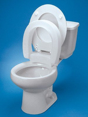 Hinged Elevated Toilet Seat Elongated by Maddak