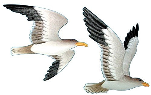 Metal Flying Seagull Set Wall Plaques