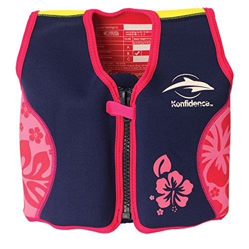 The Original Konfidence Jacket - Large 6-7 yrs Pink Hibiscus