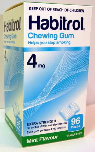 Chewing Gum - Extra Strenght 4mg, 96 pcs. (Mint Flavor) - (Pack of 2)