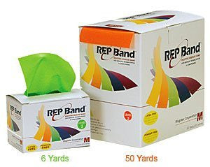 REP Band Latex-Free Resistive Exercise - 6 Yard Rolls - Green (Level 3)