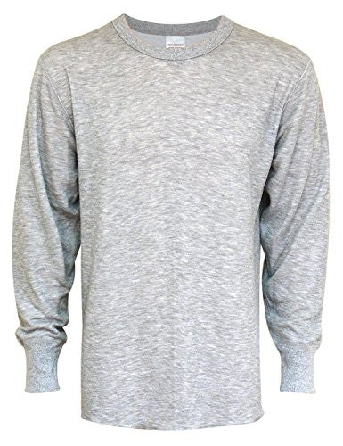Indera Men's Tall 2 Layer Wool Outside/Hydropur Inside Top (Heather Grey / XX-Large)