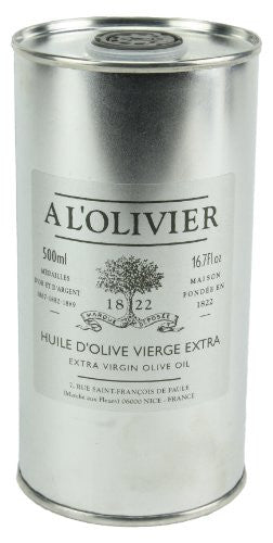 A L'Olivier Extra Virgin Olive Oil Refill Tin 500 ml