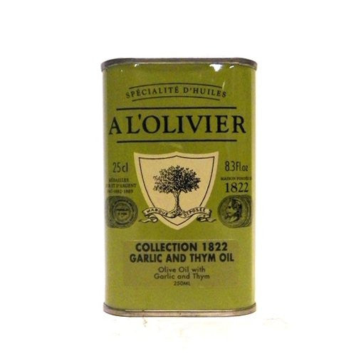 A L'Olivier Extra Virgin Olive Oil Infused With Garlic & Thyme 8.3 oz
