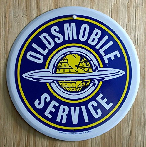 Tin Sign: Oldsmobile Service Round Sign