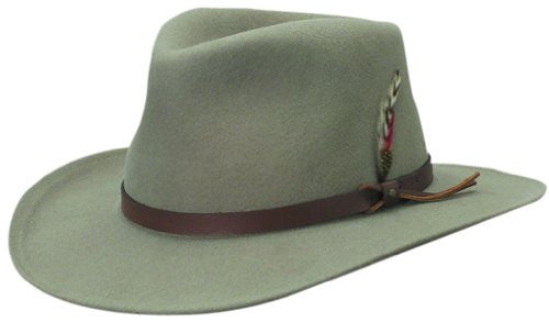 4f82ec99 Scala Classico Men's Crushable Felt Outback Hat (Putty / X-Large ...