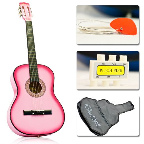 "38"" Acoustic Guitar Starer Kit (Colour-Pink)"