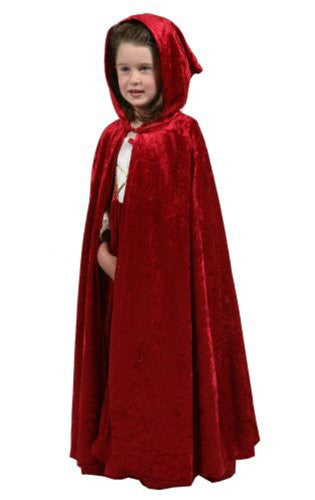 "Cloak Red (S/M 3-5 yrs of age, 28"")"