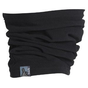 Turtle Tube, Lightweight Micro Fur Fleece Neck Warmer, Black