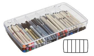 "ArtBin Prism Box 6 Compartments 11.5""X6.625""X1.75"" Transparent"