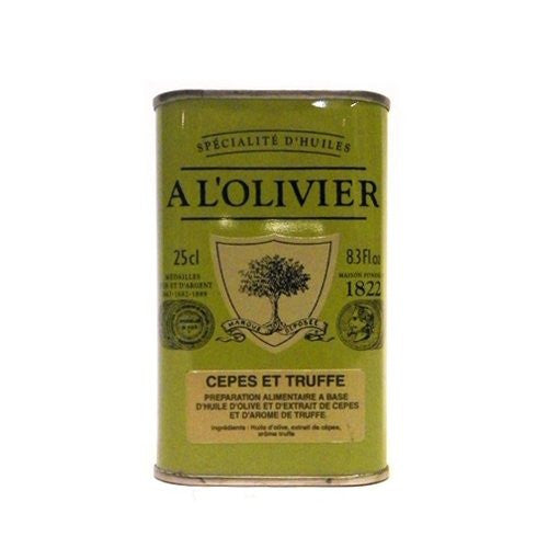 A L'Olivier Extra Virgin Olive Oil Infused With Porcini-Truffle 8.3 oz