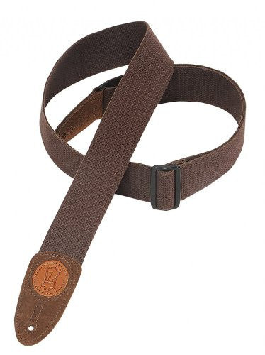 Levy's Leathers - 2 Cotton Guitar Strap Brown