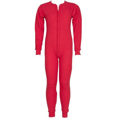 YOUTH 5.5 OZ. UNIONSUITS 1X1 RIB 100% COTTON RED - XL