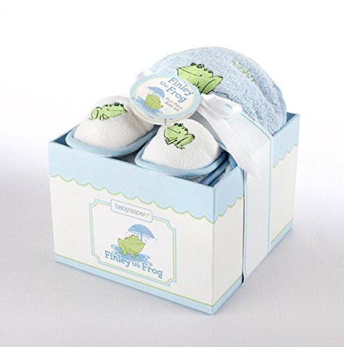 Finley the Frog Four-Piece Bathtime Gift Set