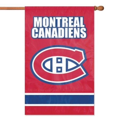 "Montreal Canadiens Applique Banner Flag (44"" x 28"")"