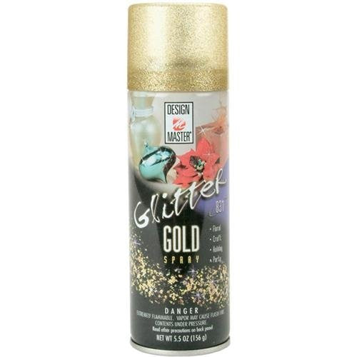 Design Master Glitter Spray 6oz Gold