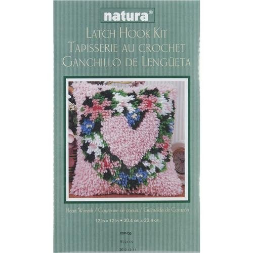 "Wonderart Latch Hook Kit 12""X12"", Heart Wreath"